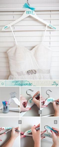 Cute DIY to get that something blue on your special day.