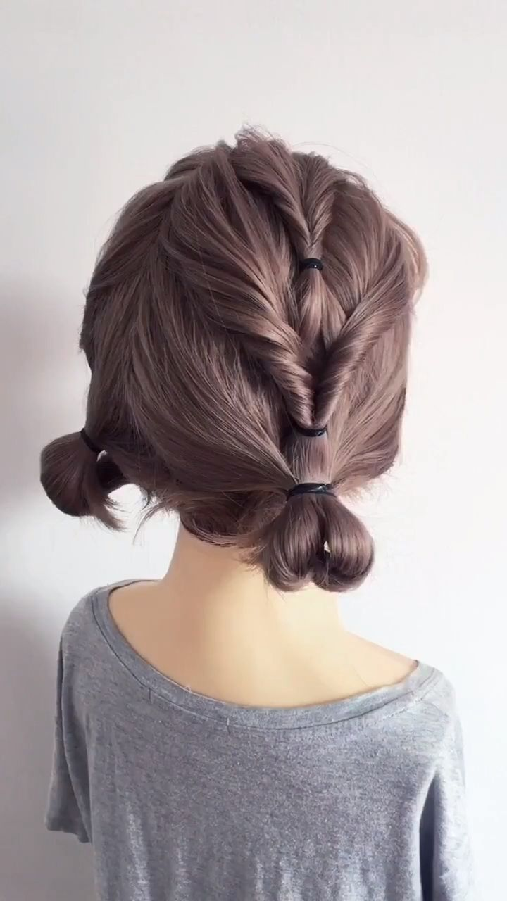 Easy and beautiful braided hair bun on blond long hair. Get inspired with 80+ amazing bridal hairstyle ideas for your wedding day. // #wedding #weddinghairstyles #weddinghair #bridalhair #hairstyles #hair #bridalbeauty #hairstyleideas