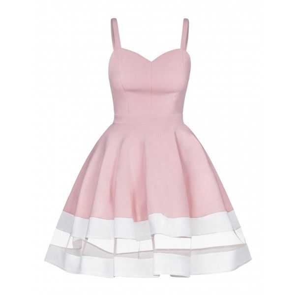 SKATER DRESS WITH TULLE DETAIL and other apparel, accessories and trends. Browse and shop related looks.