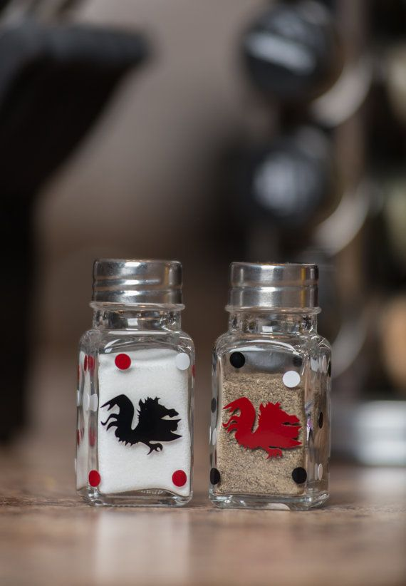 South Carolina Gamecocks Salt & Pepper Shakers by BurlapandLaceSC1, $10.00