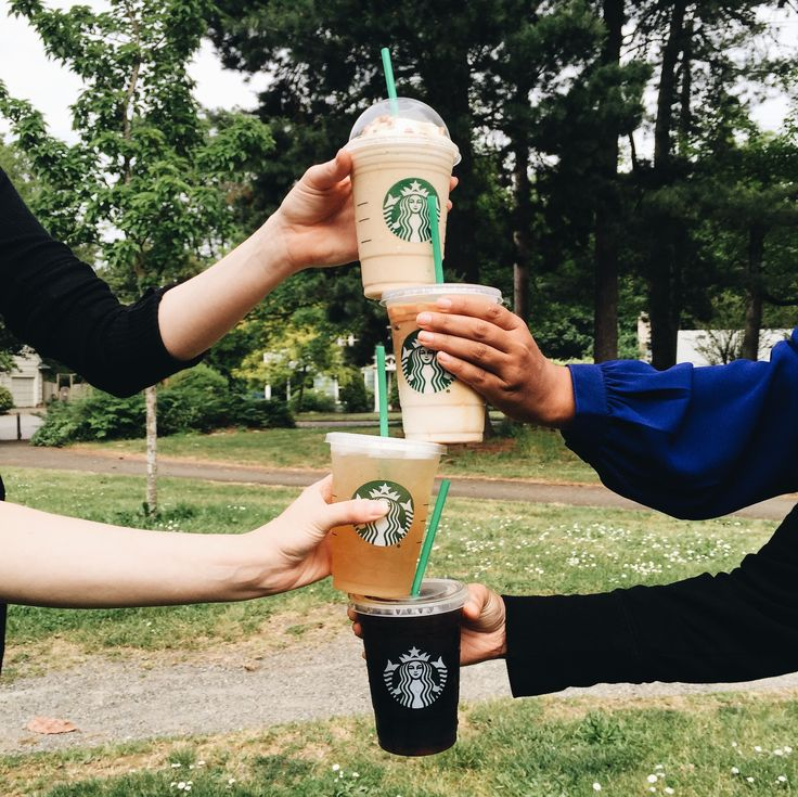 Share  Starbucks coffee with friends