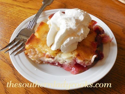 Cherry Cream Cheese Cobbler - What could be better than a cobbler that tastes like a cheesecake!