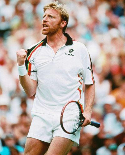 Gladiator! Nietszchean soul. Incredible creator of drama in a tennis match. Boris was my idol while growing up. Used to have several superstitions while watching his matches - one of which was that everyone in my house, including grandma had to ring my cycle bell after every game!
