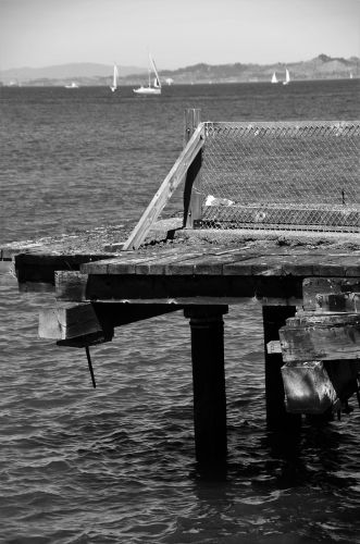 The end of a dock in San Francisco by Max Kalin. A great photograph to add to a contemporary style room.