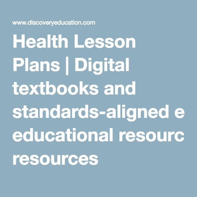 My health class would love this!  Becky Health Lesson Plans | Digital textbooks and standards-aligned educational resources