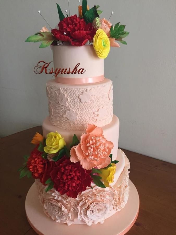 flowers cake by ksyusha