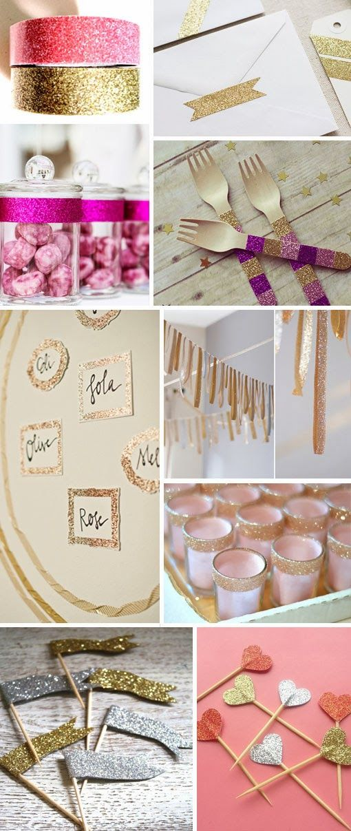 Glitter Tape + How To Use It - http://www.decoradvisor.net/amazing-ideas/glitter-tape-how-to-use-it/