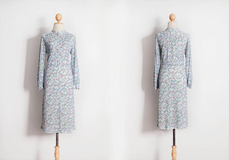 Vintage dress, 60s 70s 80s dresses, Japanese dress, Evening dress, Party dress, Beautiful dress, Retro dress, Women's clothes, Floral dress, by VintageCosmopolitan on Etsy