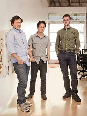 The founders of Pinterest, Paul Sciarra, Ben Silbermann, Evan Sharp--thanks guys!!