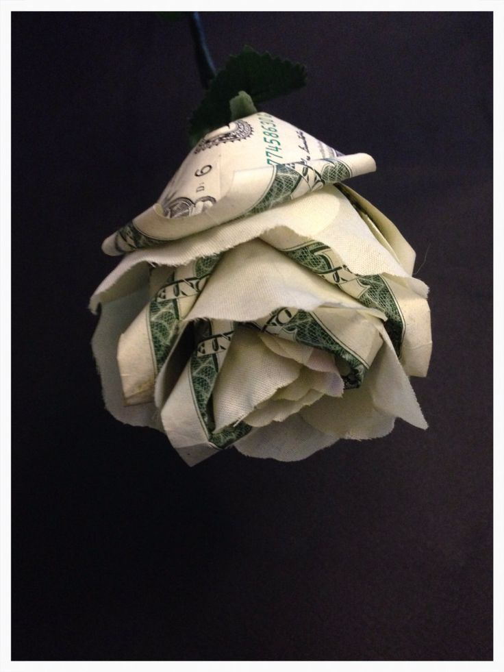 roses origami and money on pinterest