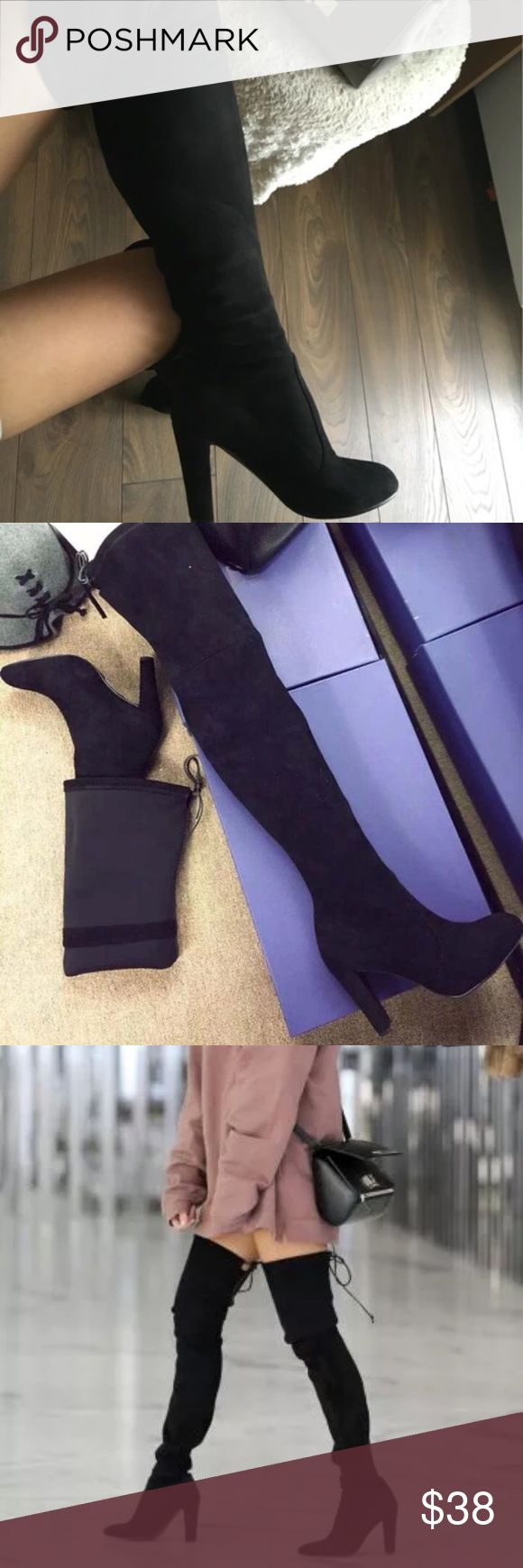 black thigh high boots Thigh highs are always in season  ✨ size: 8.5 | NEW | Offers welcome! Shoes Over the Knee Boots