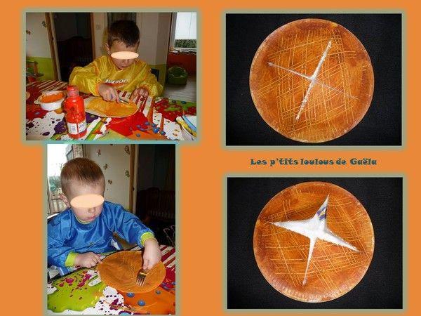 Bricolage enfants pour l'épiphanie. J'aime la galette