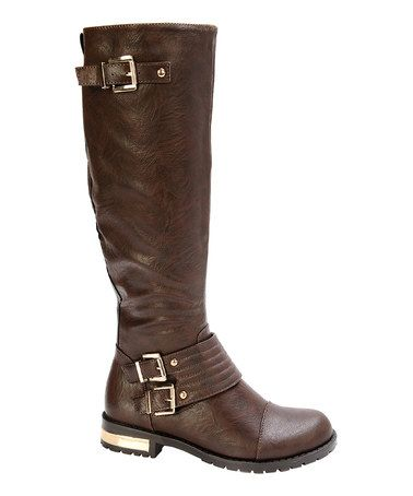 Another great find on #zulily! Brown Gold Coast Boot #zulilyfinds