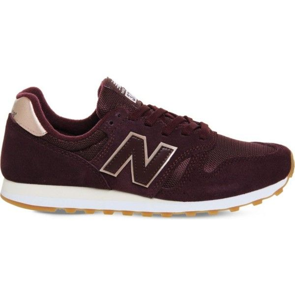 New Balance W373 suede and mesh trainers (3.600 RUB) ❤ liked on Polyvore featuring men's fashion, men's shoes, men's sneakers, mens metallic shoes, burgundy mens shoes, mens leopard print shoes, mens metallic gold sneakers and mens mesh shoes