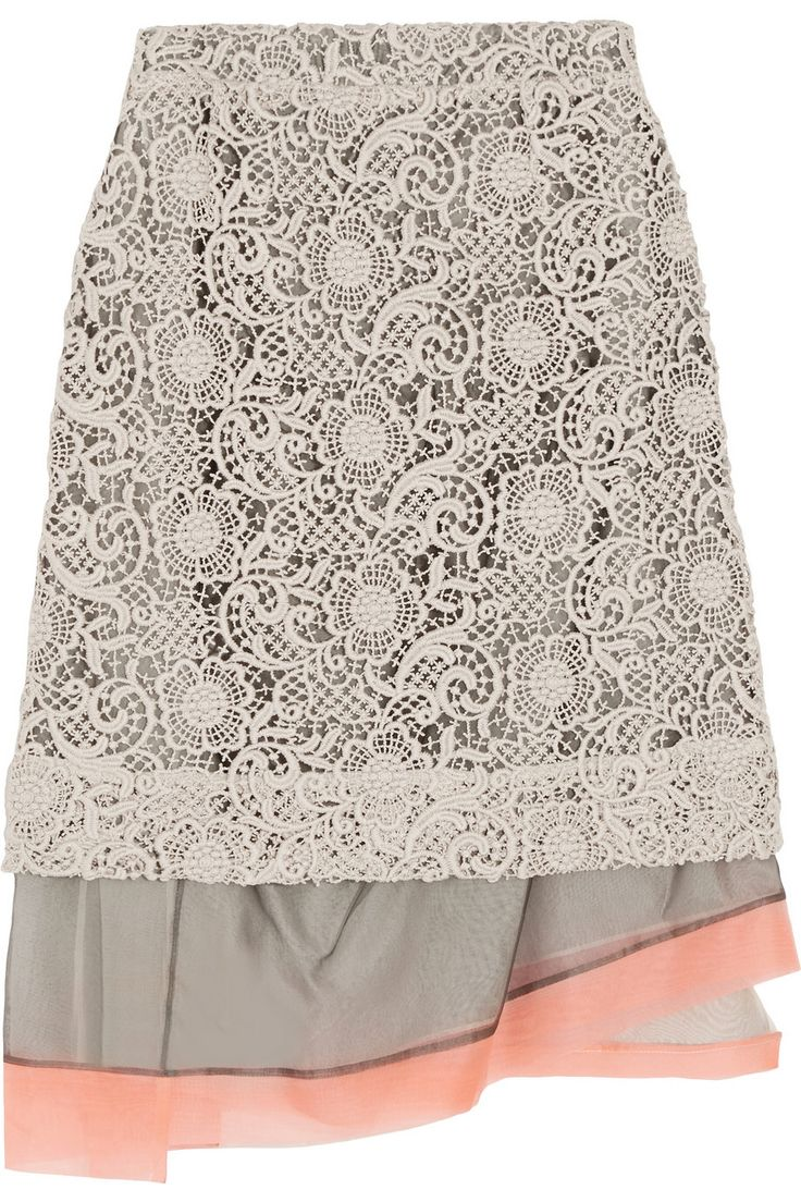 MICHAEL VAN DER HAM Macramé lace and silk-organza skirt €356 http://www.theoutnet.com/products/469564