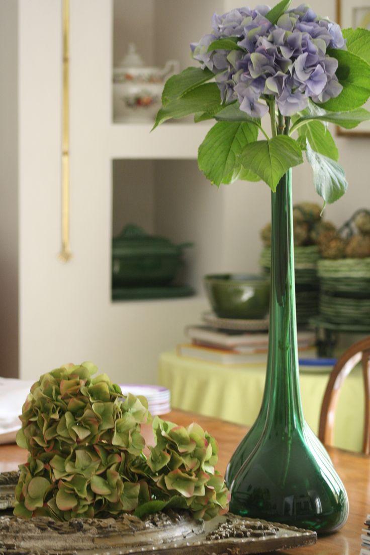Hortensia artificial azul