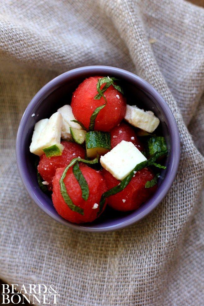Watermelon Salad {Beard and Bonnet} #gfree #glutenfree