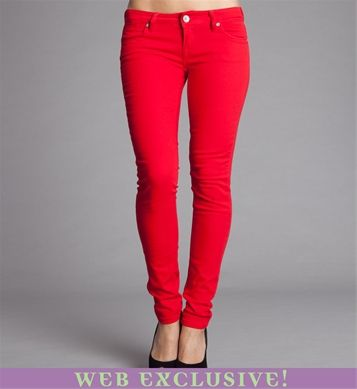 Red Skinny Jeans! @Robyn GregoryA Mini-Saia Jeans, Skinny Jeans, Red Skinny, Bright Jeans, Red Jeans, Fashion Wishlist, Closets Inspiration, Bold Red, Android App