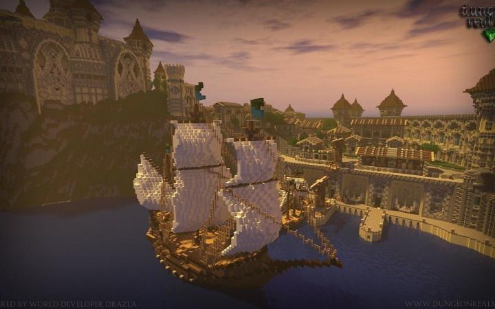 Minecraft Kingdom Harbor