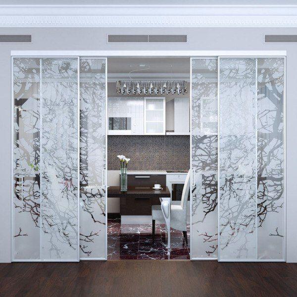 Ширмы из стекла в стиле минимализм