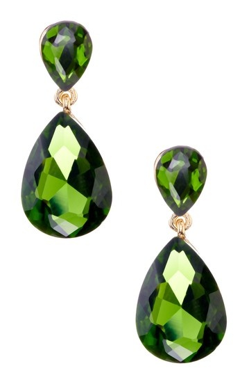 Emerald teardrop earrings, so old Hollywood! HauteLook