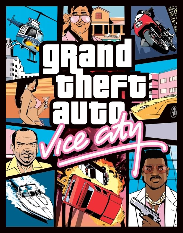 Grand Theft Auto: Vice City is a sandbox-style action-adventure computer and video game designed by Rockstar North (formerly DMA Design) and published by Rockstar Games. Description from mediaexl.blogspot.com. I searched for this on bing.com/images