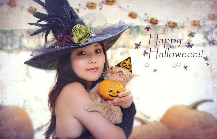 Halloween, Czarownica, Kot