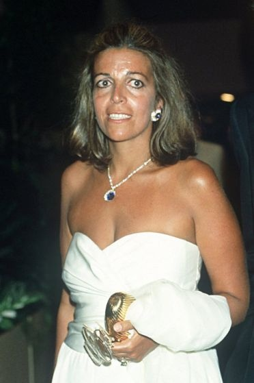 """Christina Onassis---left with the """"ill-gotten """" gains from her father; looking good here; she struggled with her weight."""