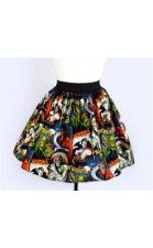 Old school Hollywood monster skirt-  Love this print!! Must find it!!! Then make this!!!