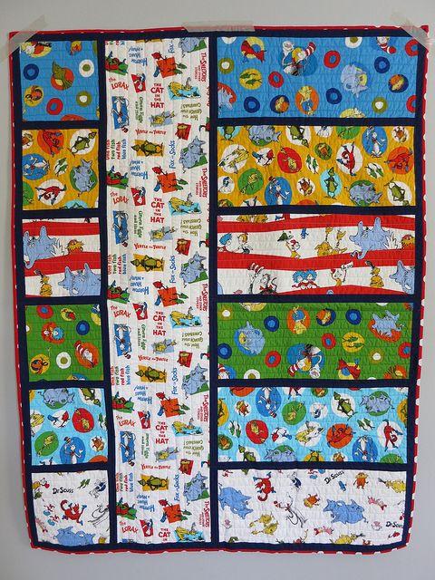 Dr. Seuss Baby Quilt, pattern by Bijou Lovely - big print ... big blocks