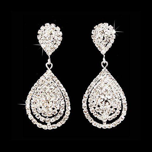 Bridal Wedding Jewelry Beautiful Dazzle Crystal Dangle Fashion 3D Earrings Silver Accessoriesforever,http://www.amazon.com/dp/B00B79ZAAS/ref=cm_sw_r_pi_dp_EKkCsb0PDZ8WBQE3