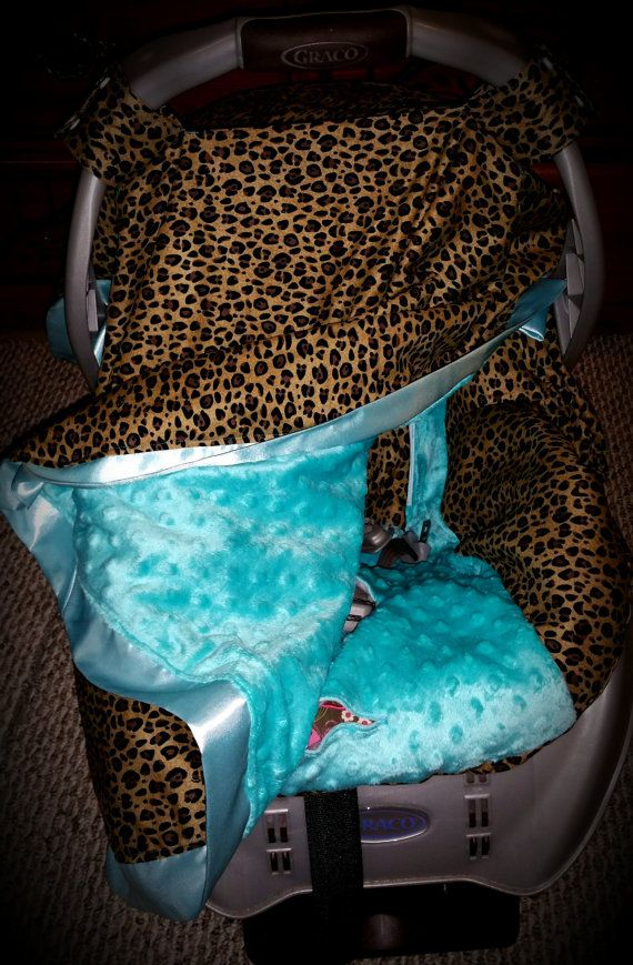 Carseat Canopy Leopard Teal Carseat Tent Cheetah by ShaysStore