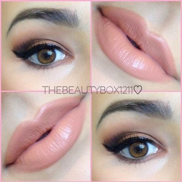 Beautiful makeup, lips MAC Stripdown lip liner, MAC Kinda Sexy... ❤ liked on Polyvore featuring beauty products, makeup, eyes, lips and beauty