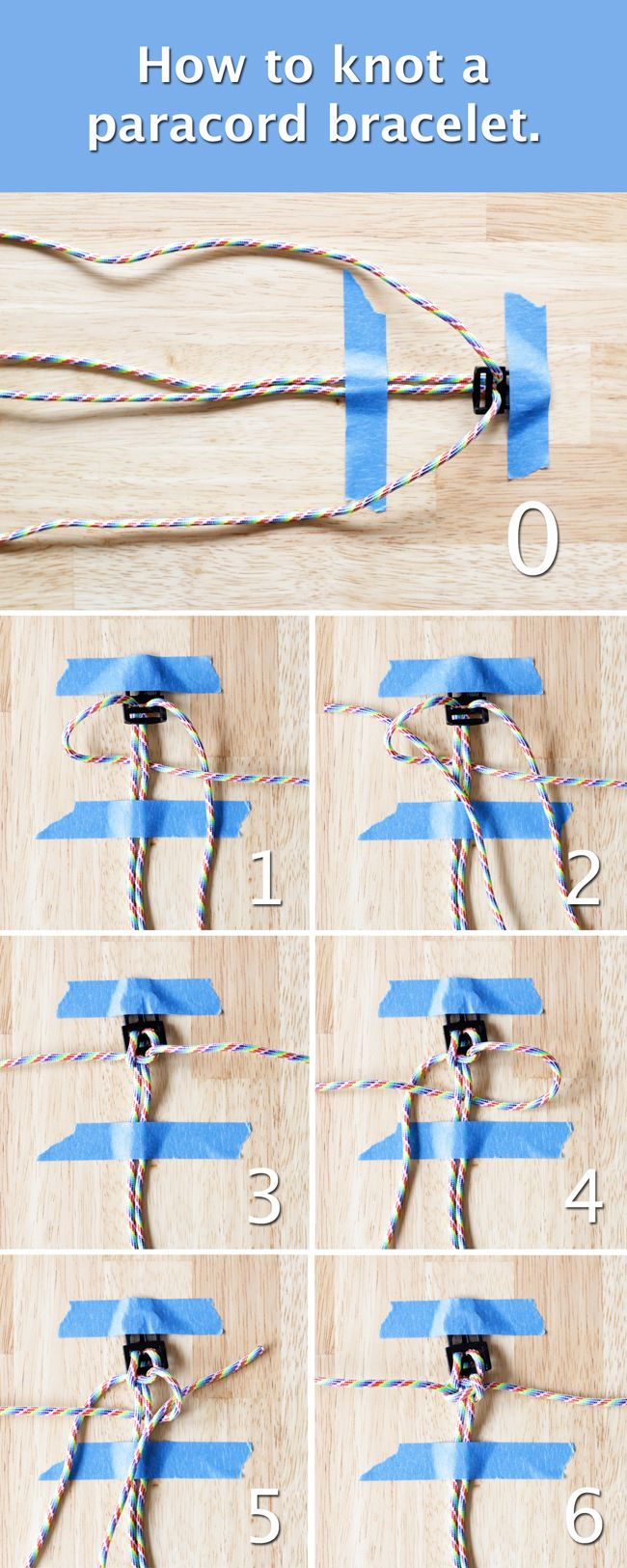 How to knot a paracord bracelet. Tutorial at HandsOccupied.com.
