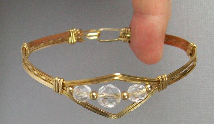 Wire Wrapped Bracelets | Beaded Wire Bangle Bracelet