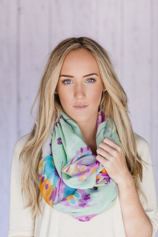 I LOVE this Spring ExciteMINT Infinity Butterfly Scarf #threebirdnest #springintoit