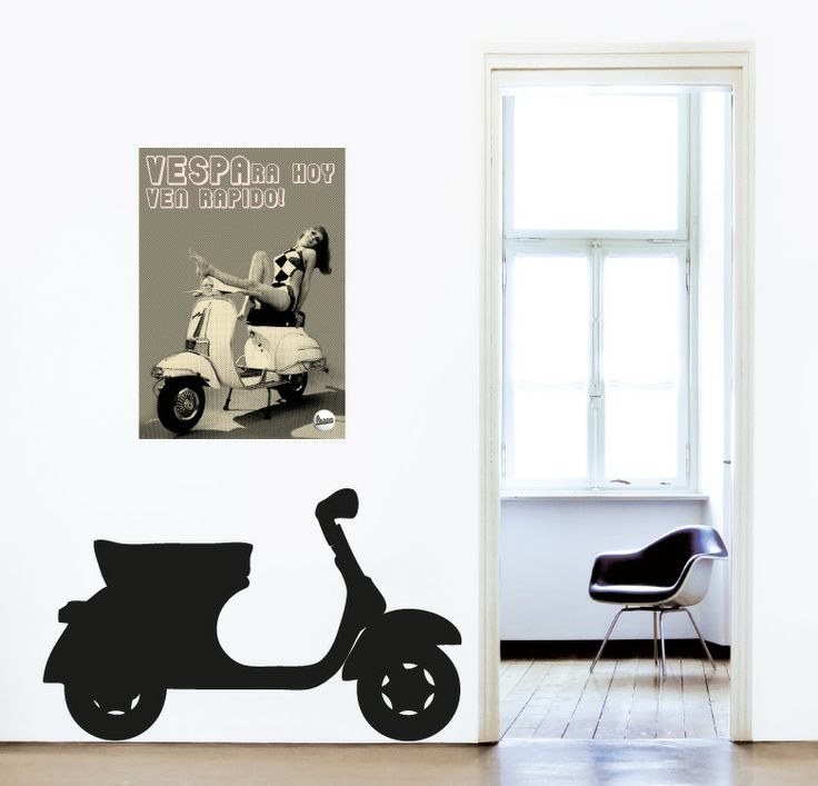 26 best vinilos images on pinterest decal decorate for Vespa decoracion