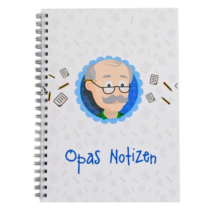 Opas Notizen, Geschenk Opa, Notizbuch Opa, Geschenk Großvater
