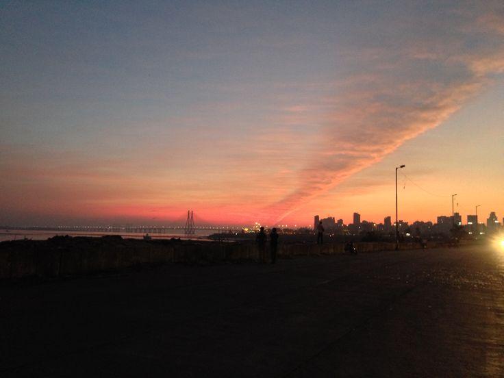 Worli sea link at sunset