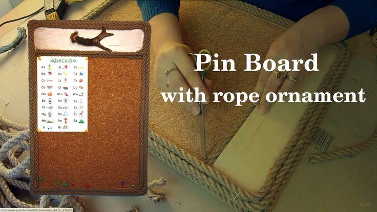 Tablica korkowa (na notatki) z ramką zrobioną z liny okrętowej - pomysł ...