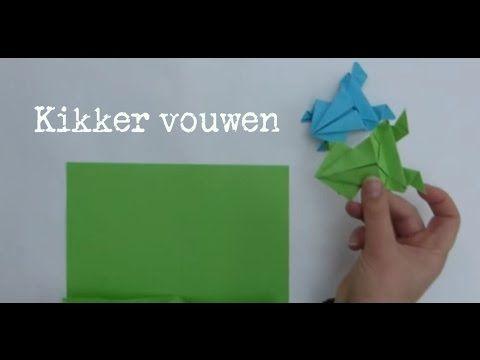 Springende kikker vouwen van papier - makkelijke uitleg - vouw instructie - origami - simple - YouTube