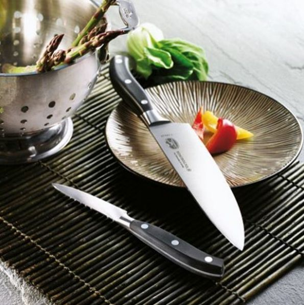 You don't have to be a professional chef to appreciate a high quality chef's knife. Each of our Forged Chef's Knives is forged in a traditional manner from a single piece of steel, with a seamless transition from the blade to the handle. And each one is perfectly balanced, so when one of these beauties reaches your hand, every chop, slice and dice will feel effortless. It's quality you'll appreciate every day. #cutlery #forged #chef