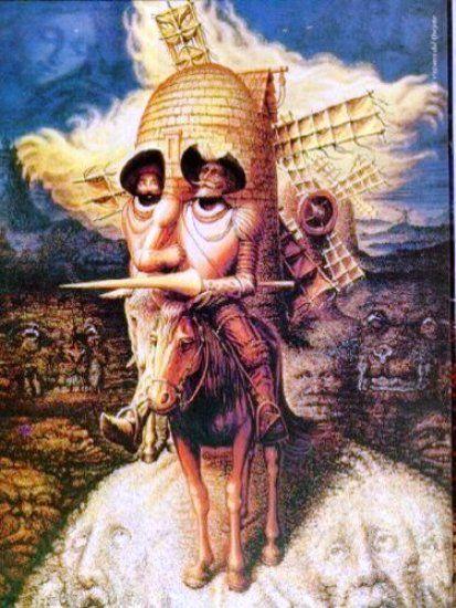 Don Quixote De La ManchaOctavio Ocampo, Don Quijote, Except, The Face, Donquixote, Salvador Dali, Optical Illusions Art, Chalk Art, Don Quixote