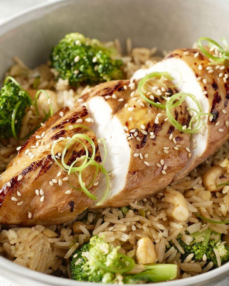 Dit is echt comfortfood, op z'n Aziatisch! Met honing gelakte kip met smaakvolle gebakken rijst en broccoli, lekker en voedzaam!