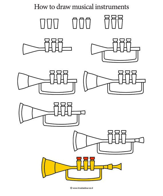 how to draw a recorder instrument