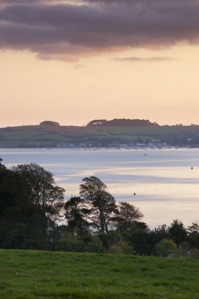 View of Carrick Roads seen from Trelissick Garden, Cornwall. Thanks to Andrew Butler & NTImages for this pic #GBwalk