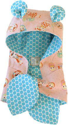 Nähanleitung für einen Kinder-Hoodie-Schal