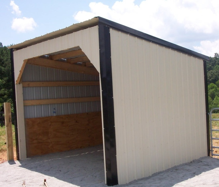 Small Hay Storage Shelter : Images about horse lean to on pinterest stables