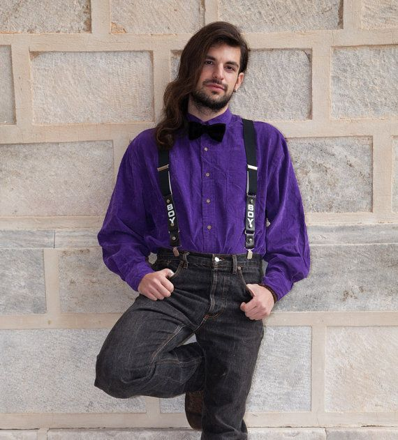 Vintage Mens' deep Purple Cotton Cord Shirt