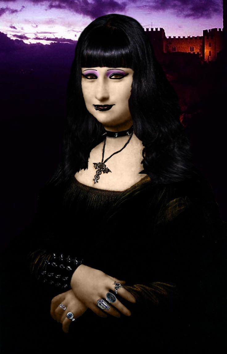 Mona Gothic [Mattia Tegon] (Gioconda / Mona Lisa)